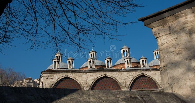 Exemple fin des fragments turcs d'architecture de tabouret image stock