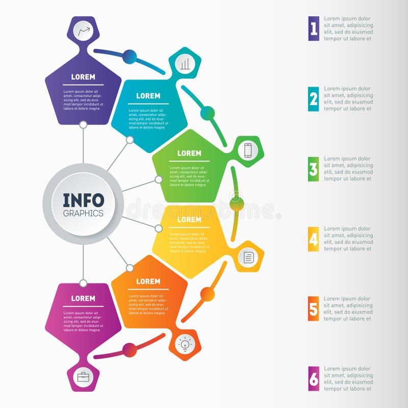 Exemples d'infographics, comment faire vos affaires structurées illustration stock