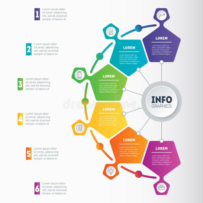 Exemples d'infographics, comment faire vos affaires structurées illustration libre de droits