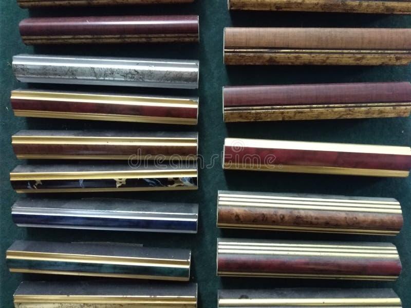 Exemples de bastidores de madera fotos de archivo