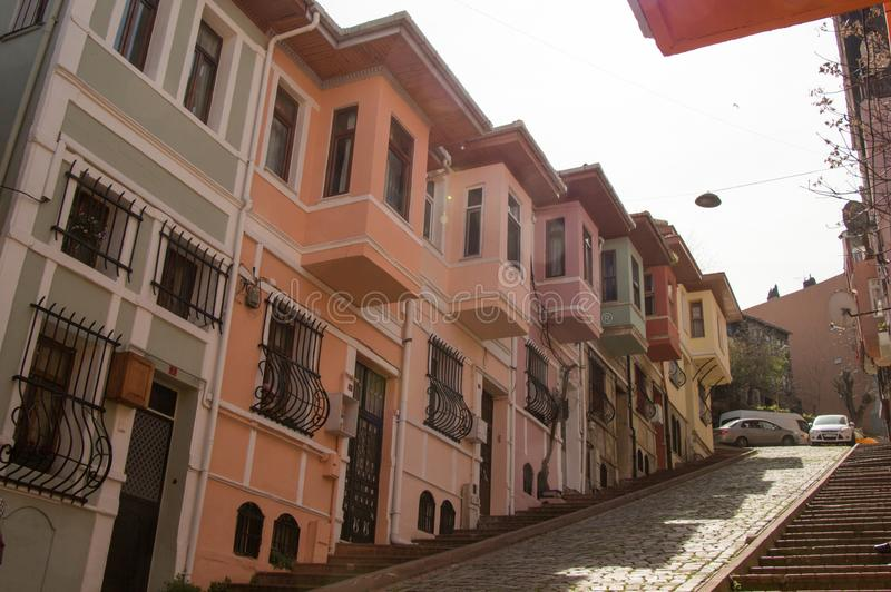 Exemplo da arquitetura tradicional turca proeminente imagem de stock royalty free