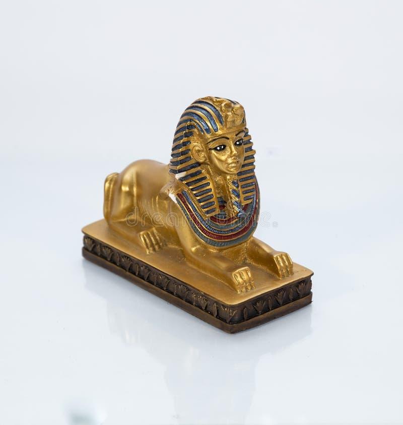 Exemplo da escultura do faraó de Egito fotografia de stock
