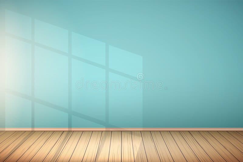Exemplo da sala vazia com janela ilustração do vetor