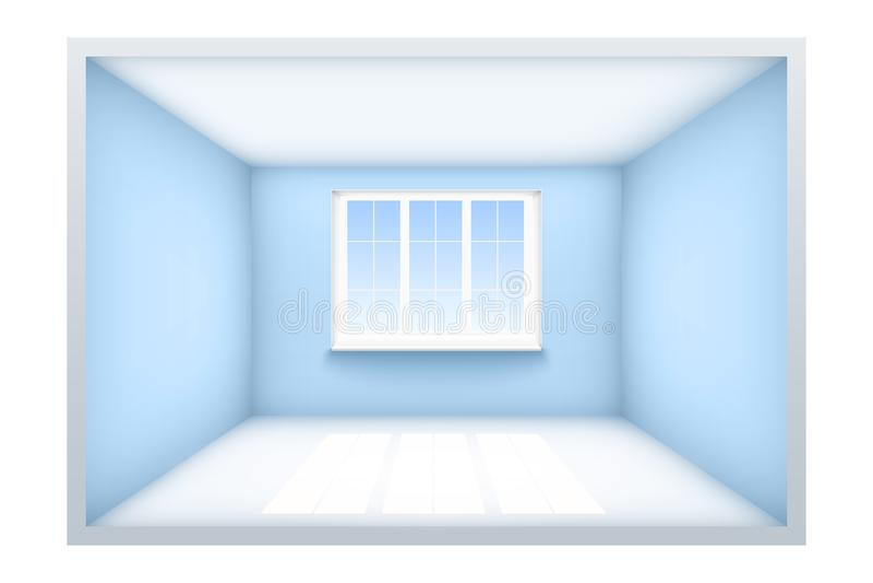 Exemplo da sala vazia com janela ilustração stock