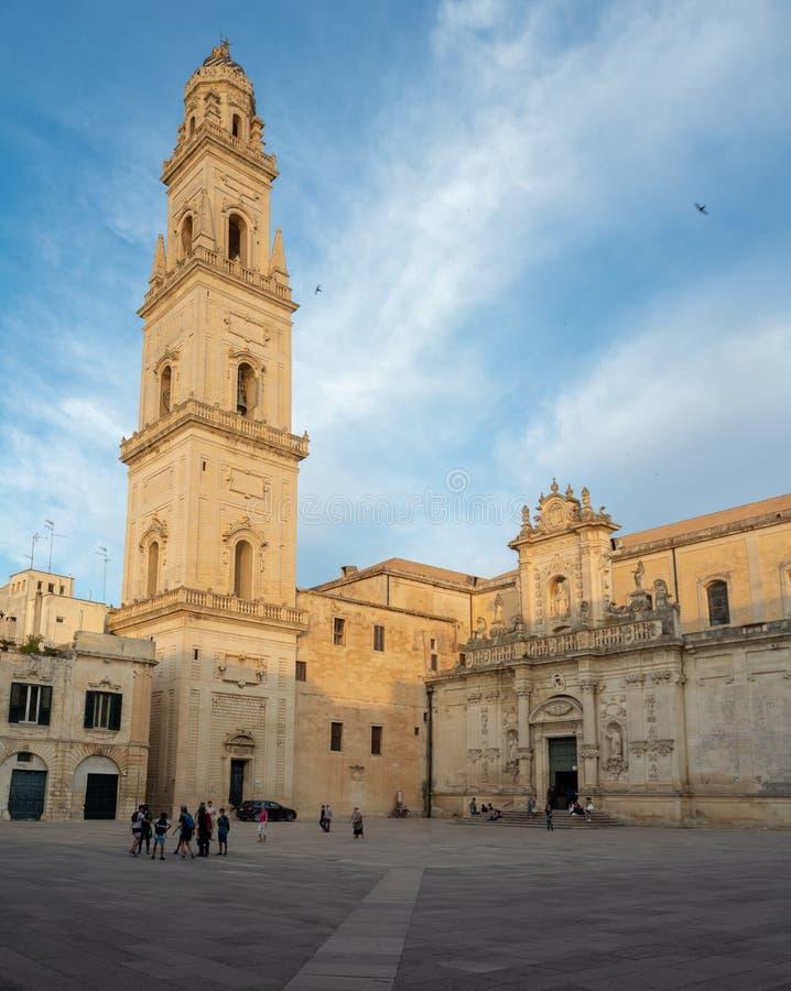 Exemplo do estilo barroco italiano sul, igreja da catedral do domo mim foto de stock royalty free
