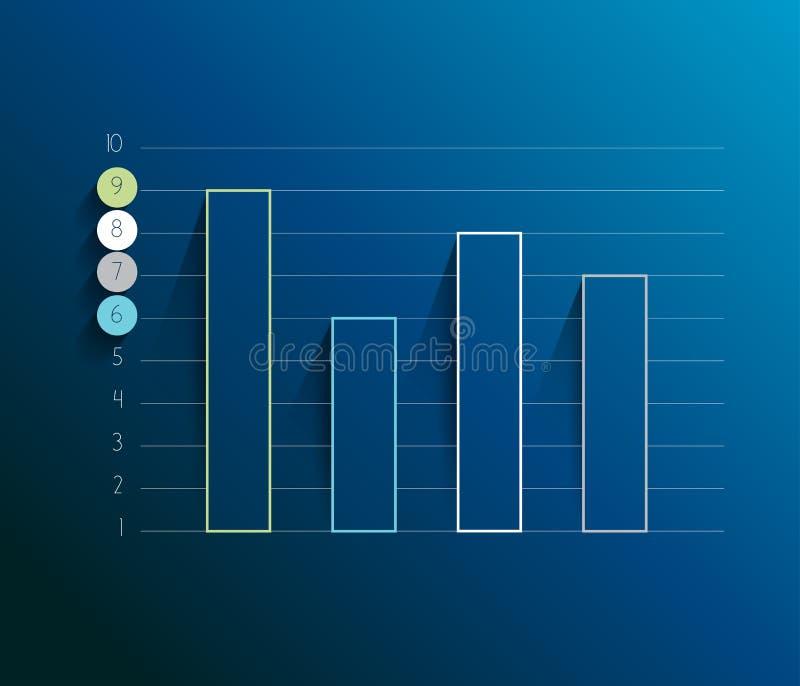 Exemplo do gráfico alinhado negócio do projeto ilustração do vetor
