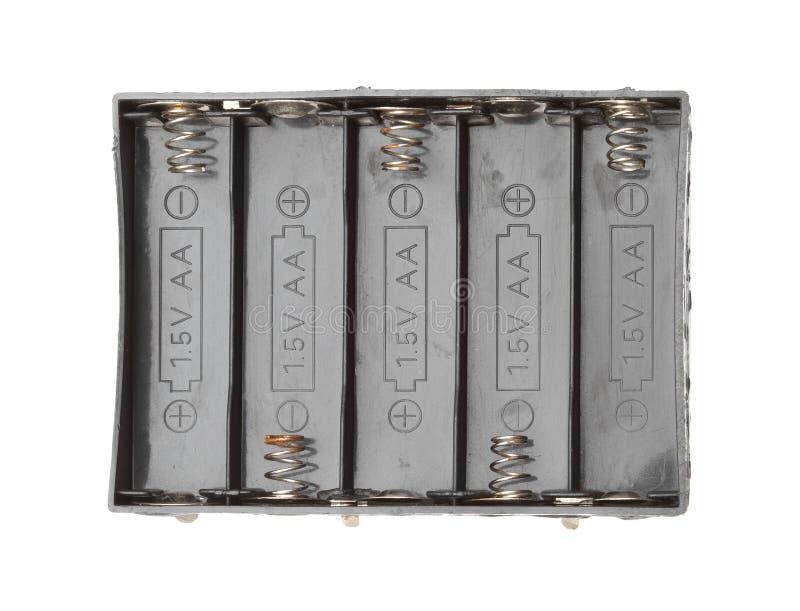 Exemplo do suporte da bateria imagens de stock