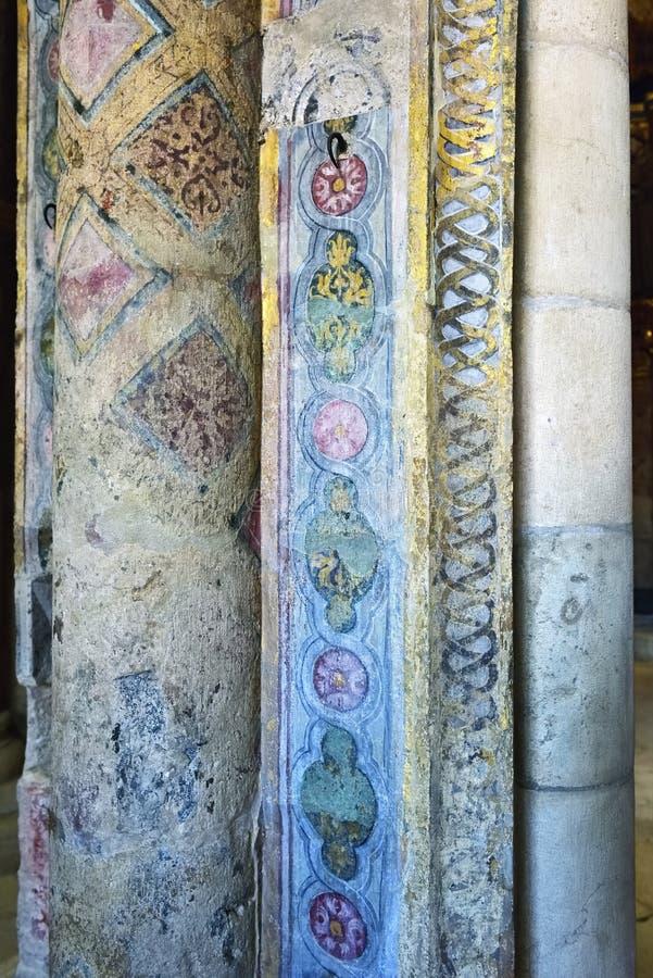 Exemplo medieval português da arte, convento de Cristo em Tomar, Por foto de stock