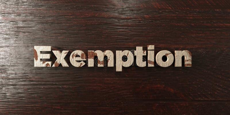 Exemption - titre en bois sale sur l'érable - image courante gratuite de redevance rendue par 3D illustration libre de droits