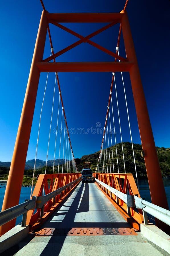 Exequiel Gonzales Bridge - Austral Carretera royaltyfri foto