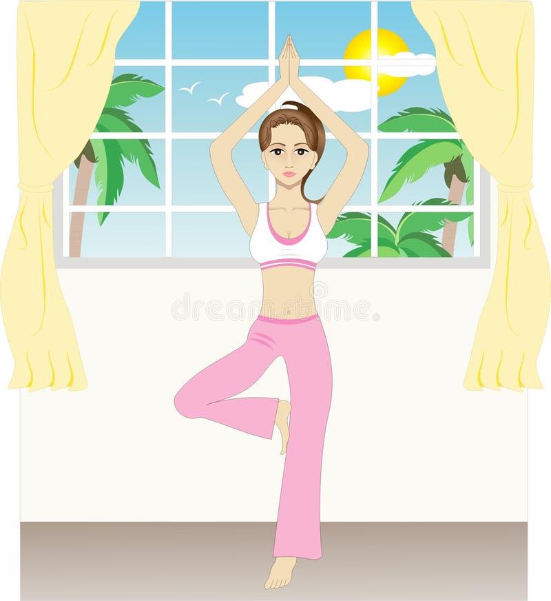 Exercício ilustração stock
