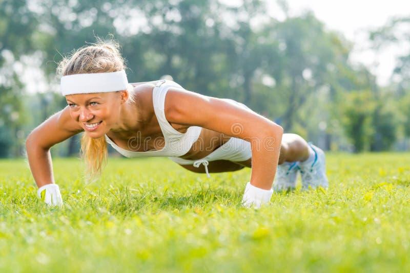 Exercício ao ar livre foto de stock