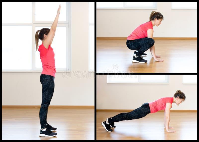 Exercício ativo da jovem mulher fotografia de stock royalty free