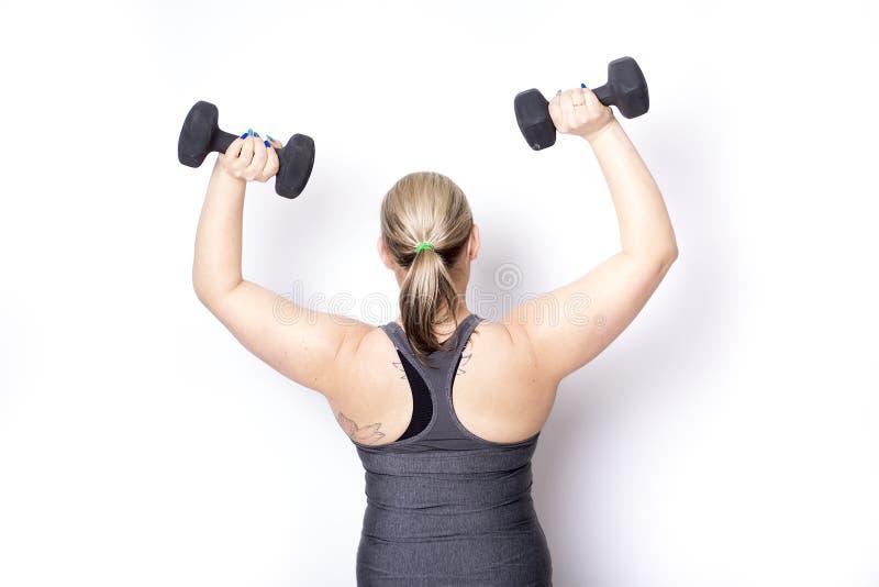 Exercício bonito da mulher imagem de stock