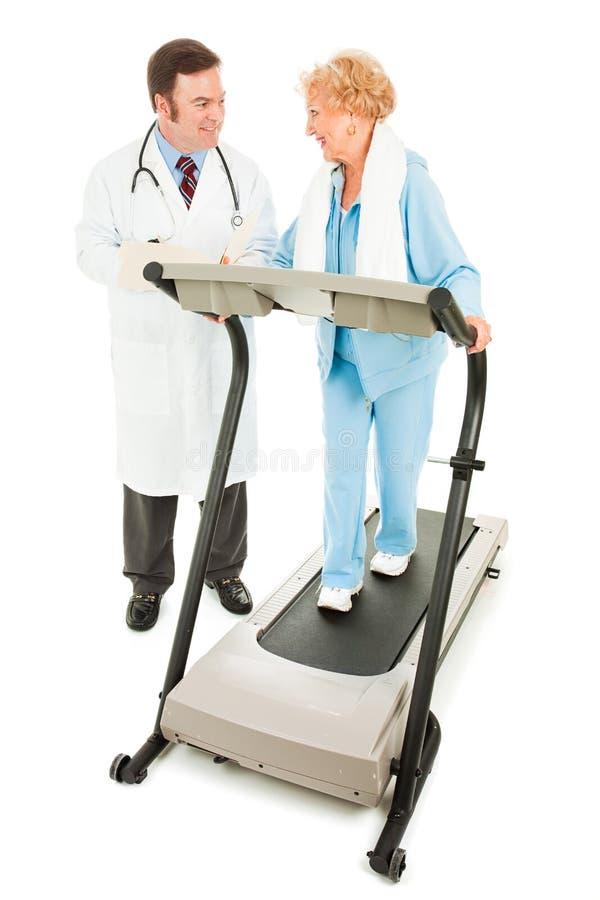 Exercício com supervisão médica imagens de stock