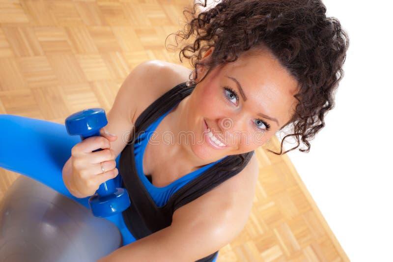 Exercício com um sorriso imagens de stock