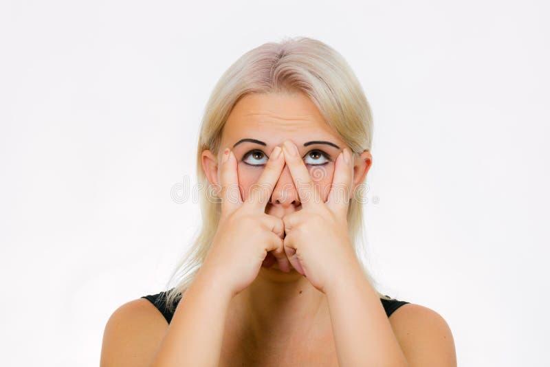 Exercício da cara da forma de V imagem de stock