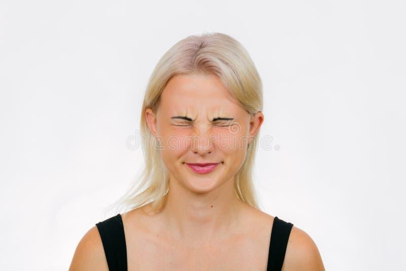 Exercício da cara para as pálpebras foto de stock royalty free