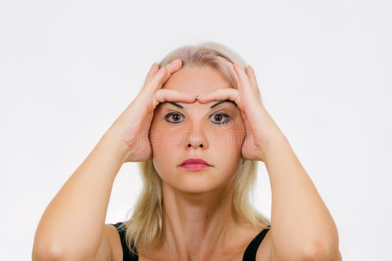 Exercício da cara para as pálpebras imagem de stock royalty free