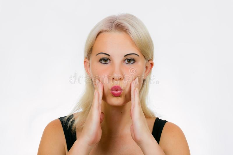 Exercício da cara para mordentes mais completos das mulheres foto de stock