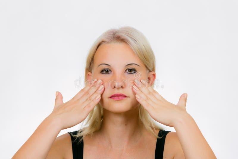 Exercício da cara para mulheres imagens de stock royalty free