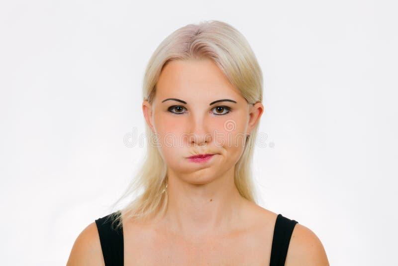 Exercício da cara para o soprador das mulheres imagem de stock