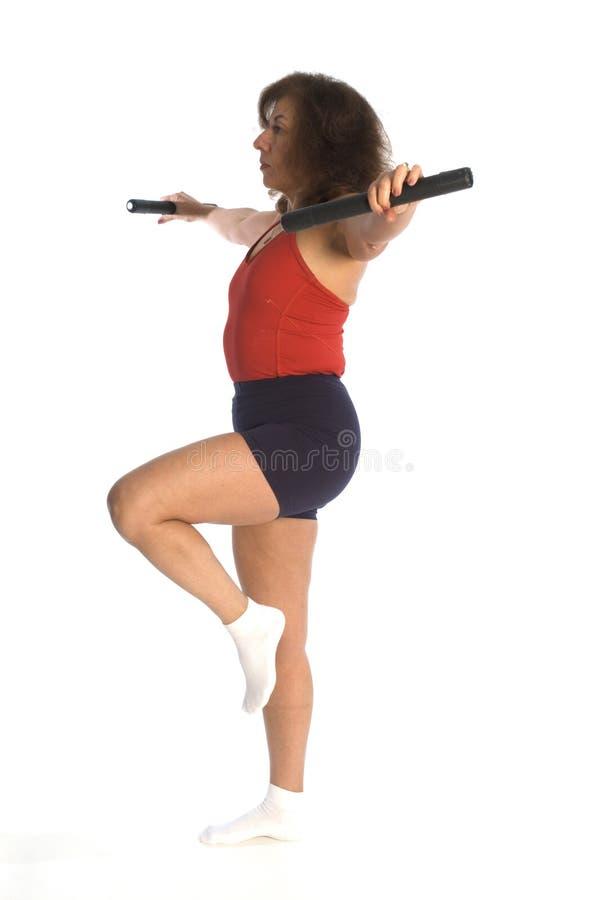 Exercício da mulher foto de stock