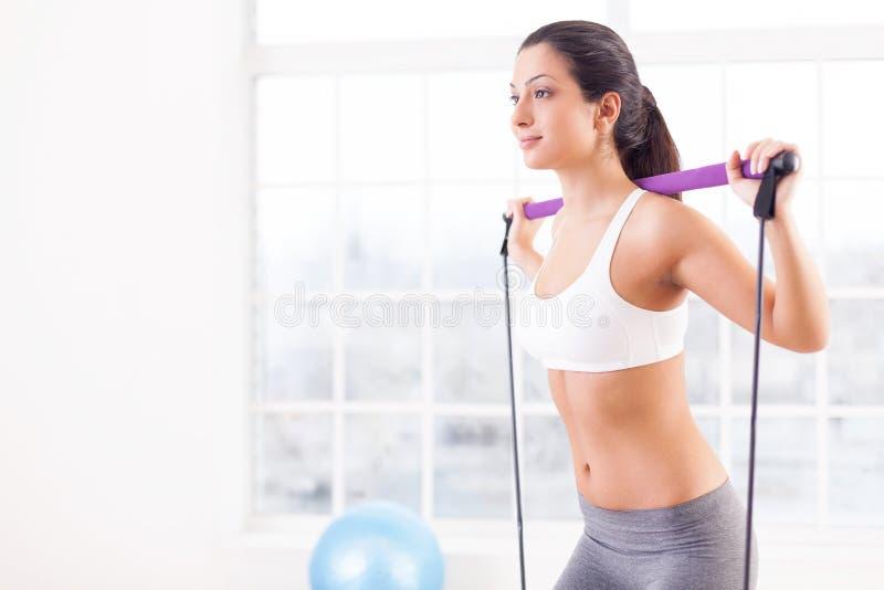 Exercício da mulher. fotos de stock