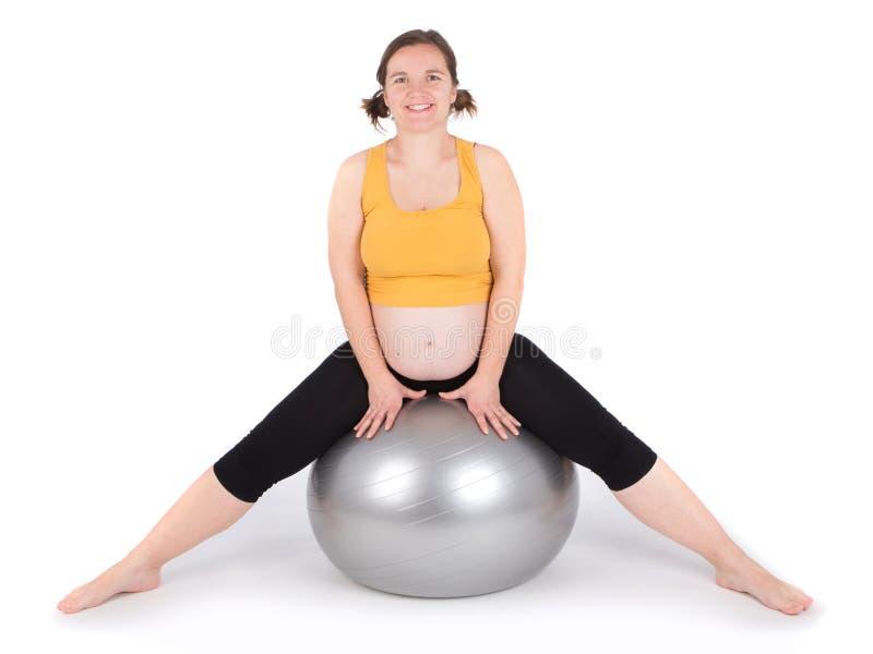 Exercício da mulher gravida imagem de stock royalty free
