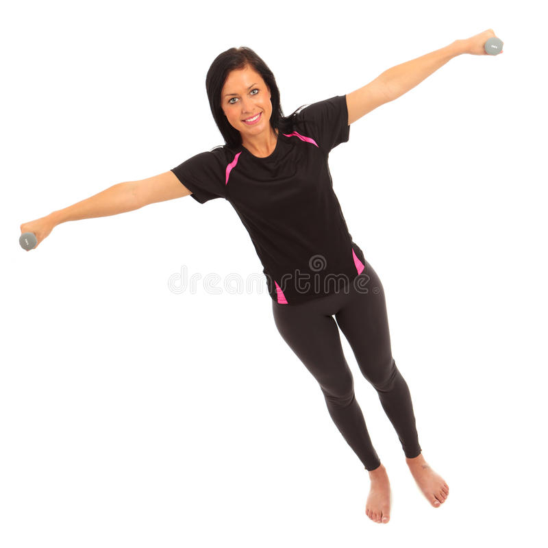 Exercício de Dumbell fotografia de stock