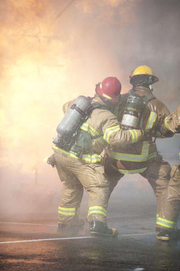 Exercício de formação do incêndio fotos de stock