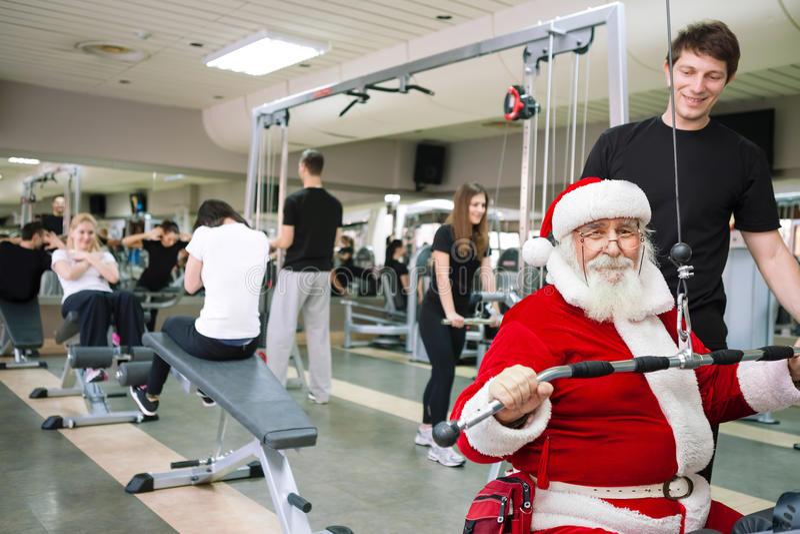 Exercício de Santa Claus fotografia de stock royalty free