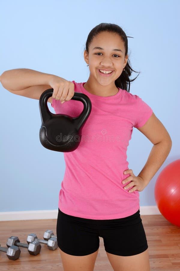 Exercício do adolescente foto de stock royalty free