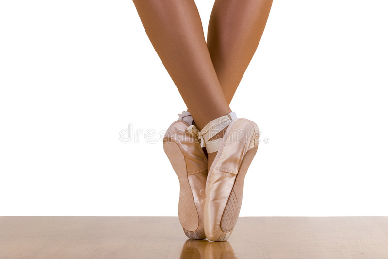 Exercício do bailado da ponta do pé fotografia de stock