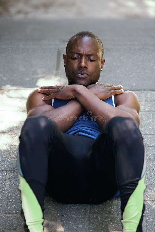 Exercício do exercício da trituração do estômago foto de stock royalty free