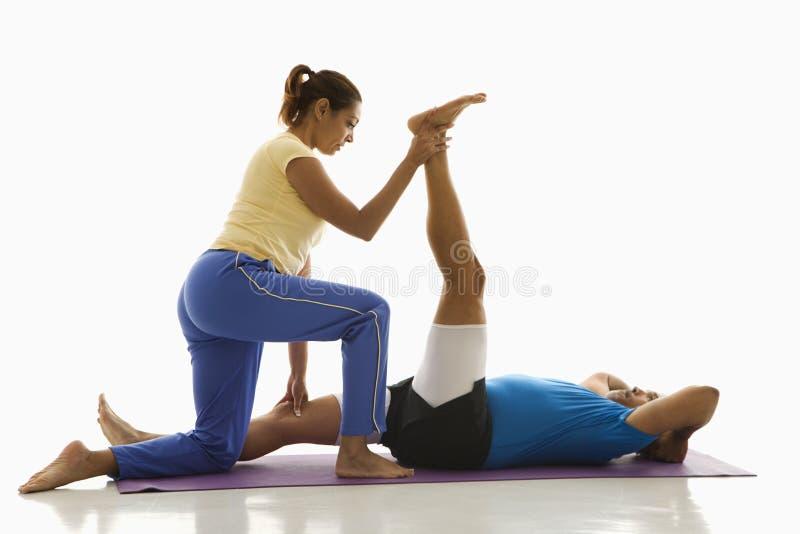 Exercício do homem e da mulher. imagem de stock