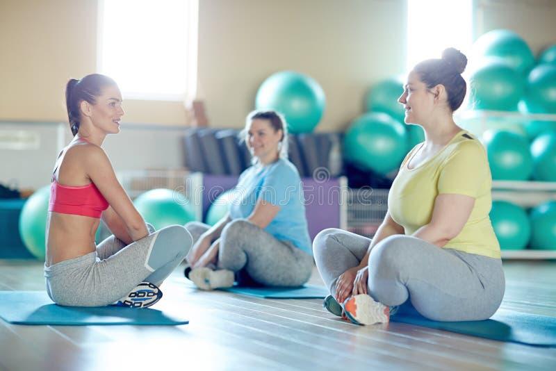 Exercício em esteiras foto de stock
