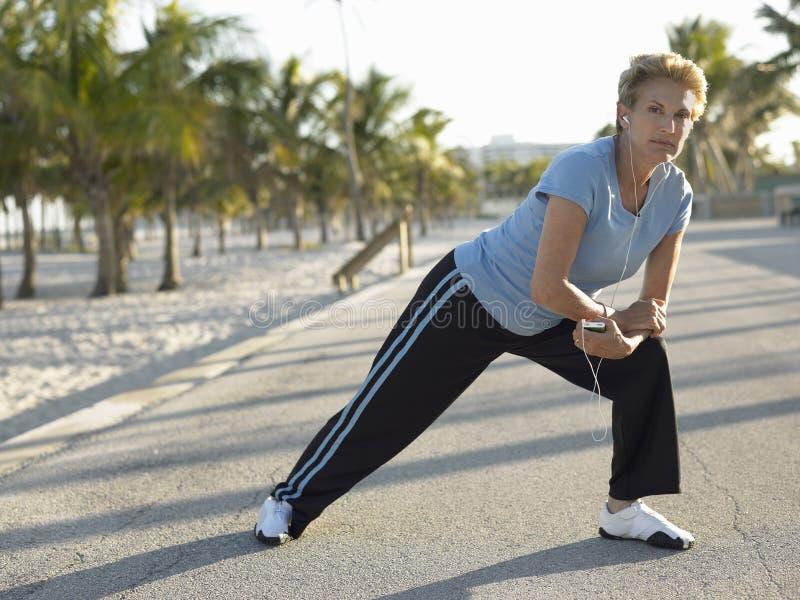 Exercício superior da mulher fotos de stock