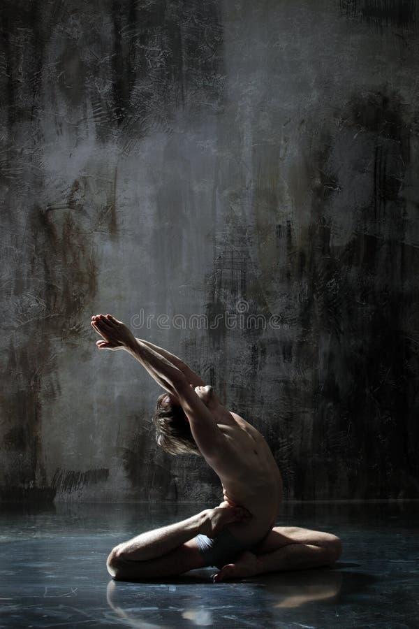 Download Exercício Yogic imagem de stock. Imagem de flexível, meditating - 10051707