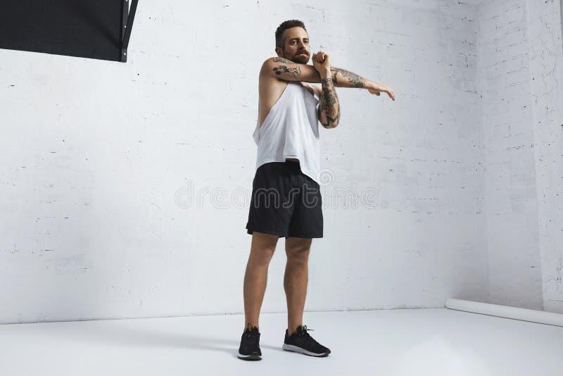 Exercícios calistênicos e do peso do corpo fotos de stock