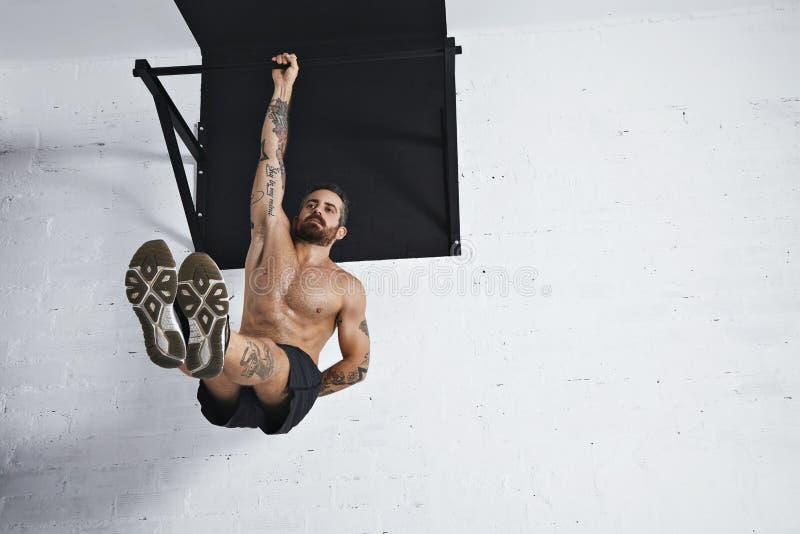 Exercícios calistênicos e do peso do corpo imagem de stock royalty free