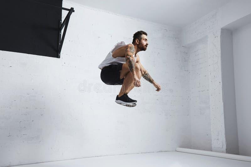 Exercícios calistênicos e do peso do corpo fotografia de stock royalty free