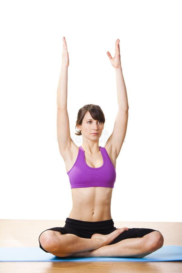 Exercícios da ioga imagens de stock royalty free