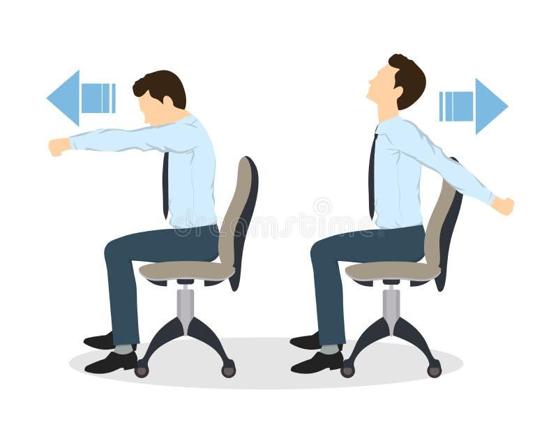 Exercícios do esporte para o escritório ilustração stock