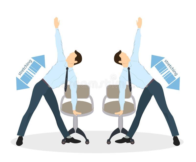 Exercícios do esporte para o escritório ilustração royalty free