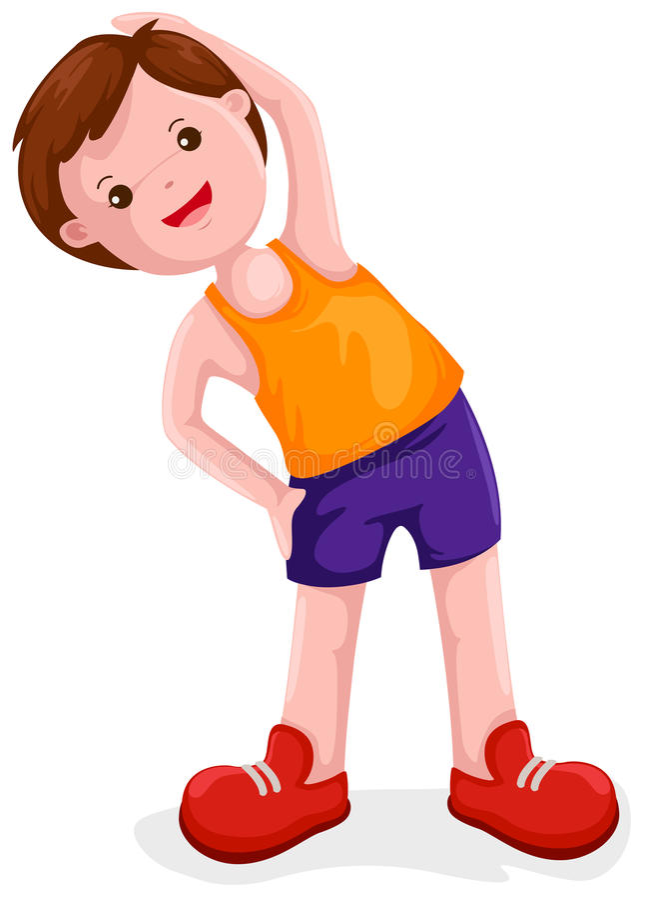 Exercícios do menino ilustração royalty free