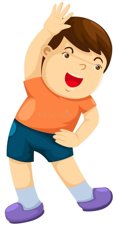 Exercícios do menino ilustração stock