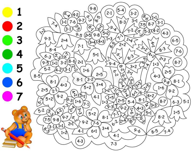Exercícios para crianças - necessidades de pintar a imagem na cor relevante ilustração do vetor