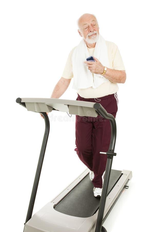 Exercice avec le joueur MP3 photo stock