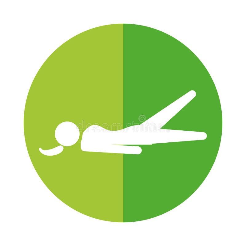 Exercice d'ABS de silhouette de femme illustration de vecteur